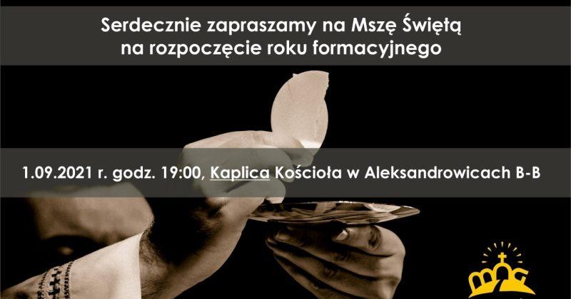 Rozpoczynamy spotkania środowe 1.09.2021