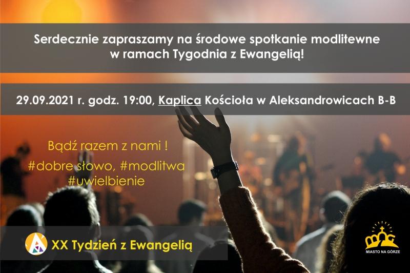 Spotkanie modlitewne w ramach XX Tygodnia z Ewangelią