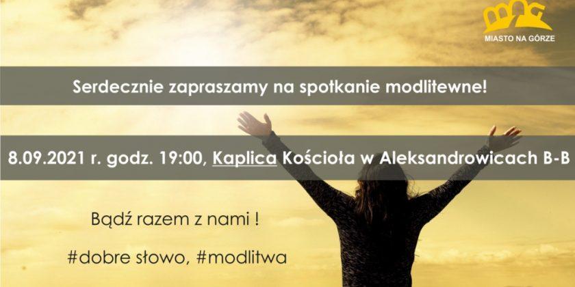Spotkanie modlitewne 8.09. – zapraszamy