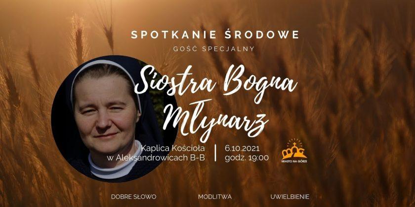 Zapraszamy na spotkanie formacyjne z Siostrą Bogną Młynarz